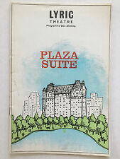 Plaza Suite -1969 London Playbill - Joyce Redman and Paul Rogers