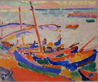 Andre Derain Fishing Boats Collioure Poster Reproduction Giclee Canvas Print