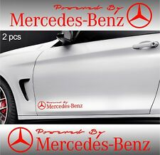 2pcs Powered by MERCEDES BENZ Stickers AMG Decals RED
