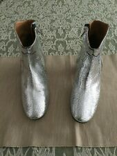 ISABEL MARANT DICKER BOOTS N. 40 COLORE SILVER IN PELLE