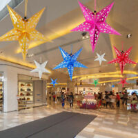 Hollow Paper Star Hanging Decor Xmas Wedding Party Ceiling Pendant Decoration FF