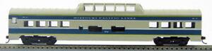 "HO 72 Ft Pass. Mid Train Dome, RTR Missouri Pacific ""Eagle"" (Gry/Blu)(1-940R)"