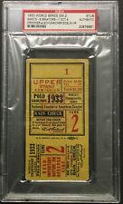 1933 World Series Game 2 Ticket PSA Authentic New York Giants vs Senators MLB