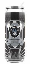 Oakland Raiders Stainless Steel Thermo Can - 16.9oz [NEW] Tumbler Mug Coffee