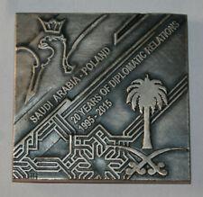 Saudi Arabia Embassy Warsaw Poland medal