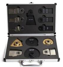 Shark Blades 13pc Case set for Universal Oscillating Mulitool Inc carry case