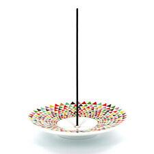 Incense Holder / Burner / Saucer | Painted Porcelain | Multi-coloured