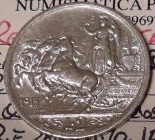 Regno d'Italia 2 lire 1915 V.E.III QUADRIGA BRIOSA qspl/spl