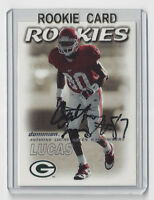 2000 PACKERS Anthony Lucas signed ROOKIE card Skybox Dominio #210 AUTO Autograph