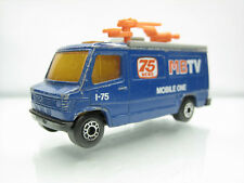 Diecast Matchbox Mercedes TV News Truck MBTV Blue Good Condition