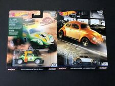 Hot Wheels Cruise Boulevard and Desert Rally Volkswagen Baja Bug Real Riders x2