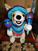"""Animated Mariachi Puppy Singing """"Macarena"""" Plush Dog w/ Shaking Maracas NEW!"""