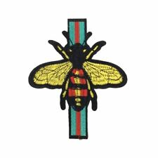 Bee Line (Iron On) Embroidery Applique Patch Sew Iron Badge