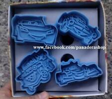 Disney Cars Mcqueen Vehicles Cookie Fondant Clay Cutter Plunger Mold