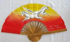 "VINTAGE 1990's WOOD & FABRIC ""ROYAL LONDON CIRCUS"" ADVERTISING FAN - HORSES"