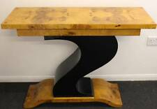 ANTIQUE ART DECO STYLE CONSOLE HALL TABLE IN WALNUT - HOME FURNITURE - C31