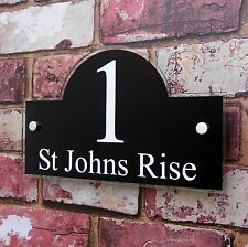 House Sign Name Address Plaque 'Bridge' shape Door Number Plate Property Name