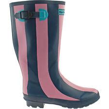 LADIES WYRE VALLEY DARK BLUE STRIPED WELLIES SIZE UK 5 - 7 WELLINGTON BOOTS RAIN