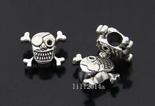 8pc Tibetan Silver skull Charm Pendant accessories Beads wholesale PL267
