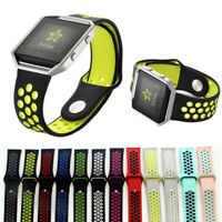 For Fitbit Blaze Sport Silicone Replacement Breathable Soft Strap Wristband Band