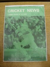 02/07/1977 Cricket News: Vol.01 No.09 - A Weekly Review Of The Game. Any faults