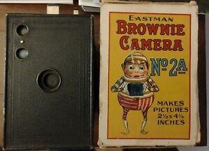 1916-era No. 2A Kodak Brownie Camera with Original Box and Instructions