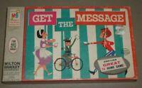 Vintage 1964 Get The Message Game TV Milton Bradley