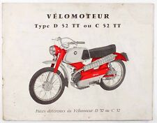 Catalogue  MOTOCONFORT - VELOMOTEUR Type D 52 TT - C 52 TT