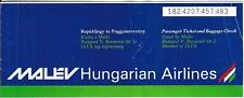 Airline Ticket - Malev Hungarian - 2 Flight Format - 1995 (T426)