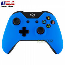 Soft Touch Blue Front Housing Shell Faceplate Case Cover for Xbox One Controller