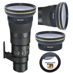 HD WIDE ANGLE LENS + MACRO LENS FOR Nikon AF-S NIKKOR 500mm f/5.6E PF ED VR Lens