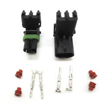 Weather Pack 1 sets 2 Pin Sealed Connector Kit 12-10 GA Connector Plug kit