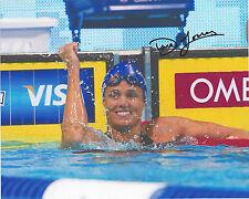 DARA TORRES signed 8x10 Photo TEAM USA Swimming London Olympics FREE SHIP COA