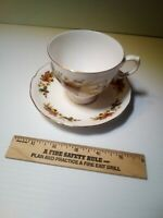 QUEEN ANNE  FALL LEAVES BONE CHINA CUP AND SAUCER MADE IN ENGLAND