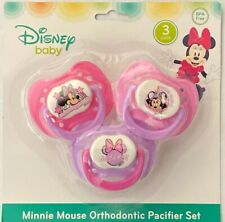 Disney Baby Minnie Mouse 3-Pack Orthodontic Pacifier Set New