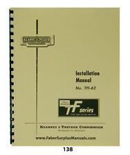 Kearney Trecker Tf Series Milling Machine Installation Amp Lubrication Manual 138