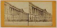 Louvre Façade Parigi Francia Foto Stereo L6n71 Vintage Albumina c1870