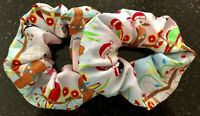 Hair Scrunchies - Australian Christmas Birds - Handmade