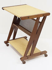 DESSERTE TABLE TELE GUERIDON SUR ROULETTES JULLIAN CHENE METAL 1960 VINTAGE 60S