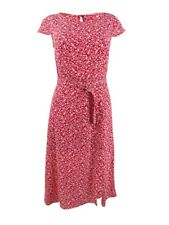 Trixxi Red Size Small S Junior Maxi Dress Ditsy Belted Midi Keyhole #449