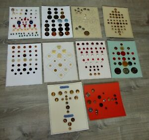 COLLECTOR'S STASH 10 Cards ASSORTED BUTTONS Lot L