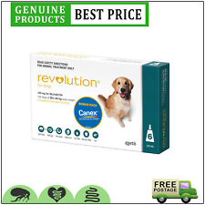 Revolution for Dogs 6 Doses + Canex 20.1 to 40 Kg Teal by Zoetis