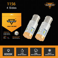 AUXBEAM 1156 7506  LED Reverse Back Up Tail Brake Signal Light Bulb 2400LM