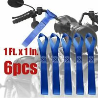 6pcs Soft Loop Tie Down Strap 4500Lbs For Heavy Duty Motorcycle ATV 1Ft x 1In