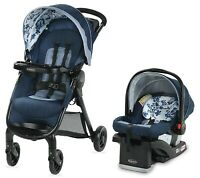 Graco Baby FastAction SE Travel System Stroller w SnugRide 30 LX Car Seat Tessa