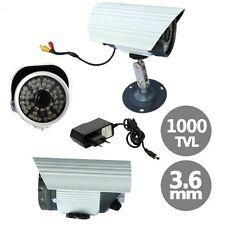 TELECAMERA CAMERA HD CCD SONY 3.6 MM 1000 TVL 48 LED IR SORVEGLIANZA BNC COLORI