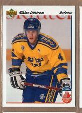NICKLAS NICK LIDSTROM 1991/92 Upper Deck Team Sweden ROOKIE CARD RED WINGS HOF!