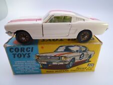 VINTAGE CORGI 325 FORD MUSTANG 2+2 COMPETITION MODEL IN ORIGINAL BOX 1965-69