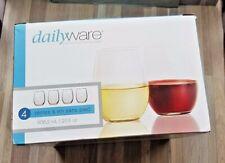 Stemless Wine Glasses, Set of 4, 20.5oz (Missing 1) Dailyware