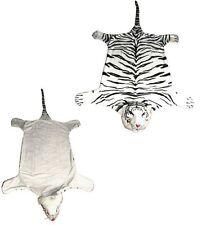 Grand en fourrure synthétique tigre peau d'animal sol mur tapis bengal siberian white tiger